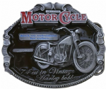 Harley Davidson Bobber Motorcycle Belt Buckle with display stand. Code SJ6